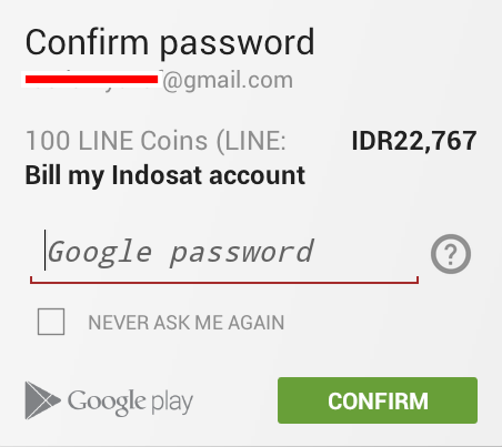 konfirmasi password