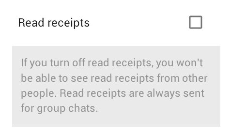 Read Receipts